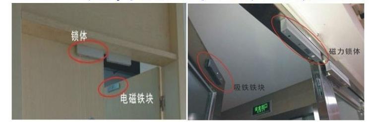 电磁锁安装示意图,磁力锁安装图